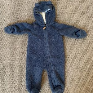 Baby Sherpa bunting bodysuit